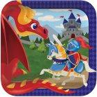 8 Assiettes Dragon et Chevalier