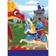 8 Pochettes à Cadeaux Dragon et Chevalier