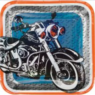 8 Assiettes Moto Bikers