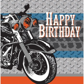 16 Serviettes Moto Bikers