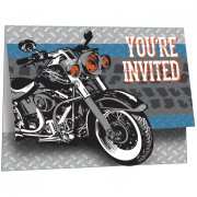 8 Invitations Moto Bikers