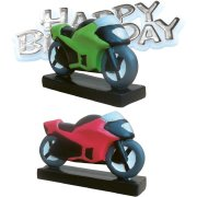 Figurine Moto Happy birthday