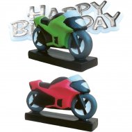 Figurine Moto Happy birthday