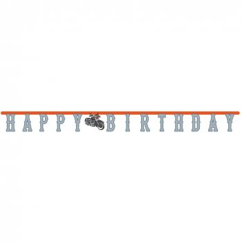Guirlande Happy Birthday Moto Bikers