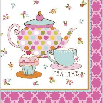 16 Serviettes Tea Time