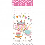 8 Invitations Tea Time