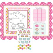 8 Sets de table ludique Tea Time