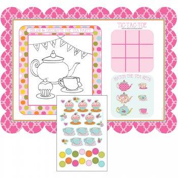 8 Sets de table ludique Tea Time