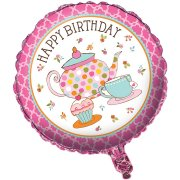 Ballon Mylar Tea Time Happy Birthday