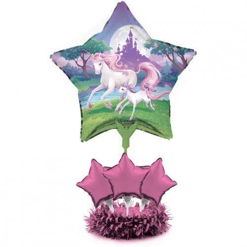 Centre de Table Ballons Licorne Féerique