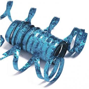 10 Serpentins Holographiques Bleu (1,98 m)