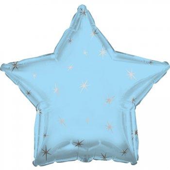 Ballon Mylar Etoile Bleu ciel