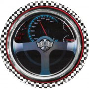 8 Assiettes Speed Racing