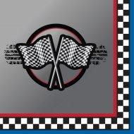 16 Petites Serviettes Speed Racing