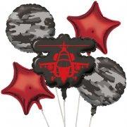 5 Ballons mylar Forces Armées