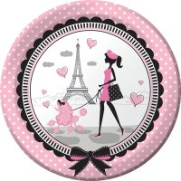 Contient : 1 x 8 Assiettes Paris Chic