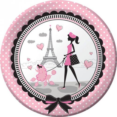 8 Assiettes Paris Chic