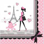 18 Serviettes Paris Chic