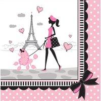 Contient : 1 x 18 Serviettes Paris Chic