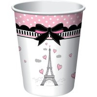 Contient : 1 x 8 Gobelets Paris Chic