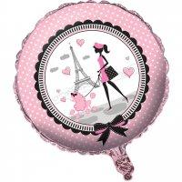Contient : 1 x Ballon Mylar Paris Chic