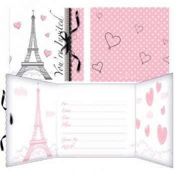 8 invitations Paris Chic