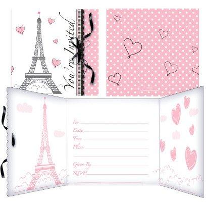 8 invitations Paris Chic