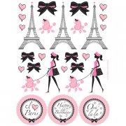 4 Planches de Stickers Paris Chic