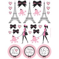 4 Planches de Stickers Paris Chic