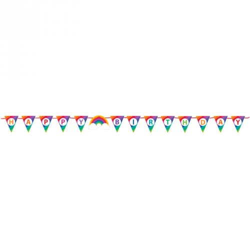Guirlande Fanions Happy Birthday Rainbow Fun