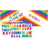 Contient : 1 x Affiche à Personnaliser Rainbow Fun
