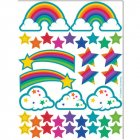2 Planches de Stickers Rainbow Glitter