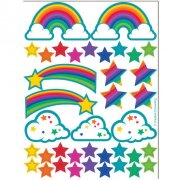 2 Planches de Stickers Rainbow Glitter