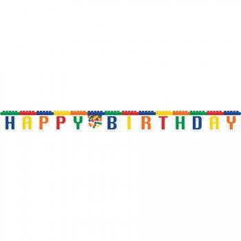 Guirlande lettres Happy Birthday Block Party