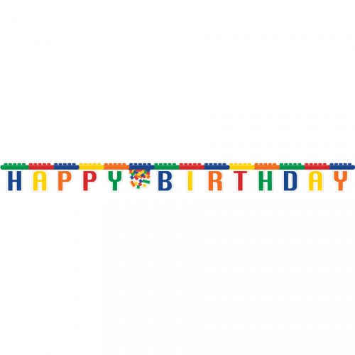 Guirlande lettres Happy Birthday Block Party