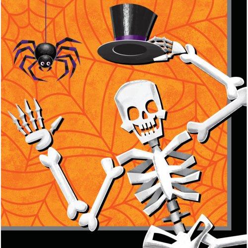 16 Serviettes Squelette