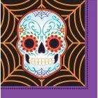 16 Serviettes Halloween Calavera