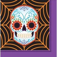 Contient : 1 x 16 Serviettes Halloween Calavera