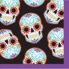 16 Petites Serviettes Halloween Calavera