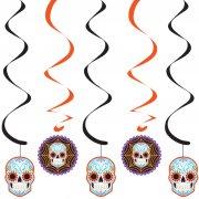 5 Guirlandes Spirales Halloween Calavera