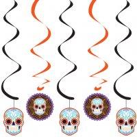 Contient : 1 x 5 Guirlandes Spirales Halloween Calavera