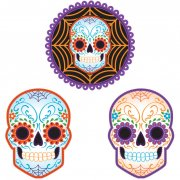 3 D�corations Murales Halloween Calavera