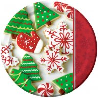 Contient : 1 x 8 Assiettes Biscuits de Noël