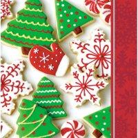 Contient : 1 x 16 Serviettes Biscuits de Noël