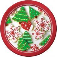 8 Petites Assiettes Biscuits de Noël