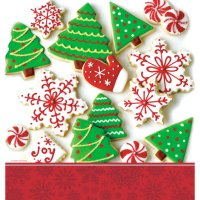 Contient : 1 x Nappe Biscuits de Noël