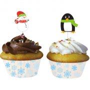 Kit 12 Caissettes et D�co Cupcakes Xmas Friends