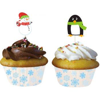 Kit 12 Caissettes et Déco Cupcakes Xmas Friends