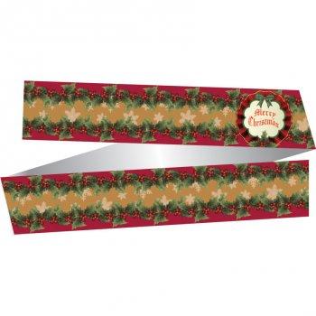 Ruban Merry Chrismas Rétro (papier)