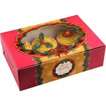 2 Boites à Cupcakes et Biscuits Noël Rétro
